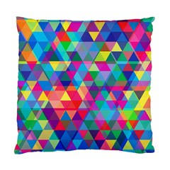 Colorful Abstract Triangle Shapes Background Standard Cushion Case (One Side)