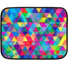 Colorful Abstract Triangle Shapes Background Fleece Blanket (Mini)