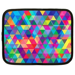 Colorful Abstract Triangle Shapes Background Netbook Case (XXL)