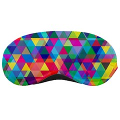 Colorful Abstract Triangle Shapes Background Sleeping Masks