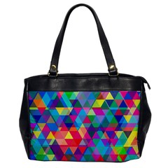 Colorful Abstract Triangle Shapes Background Office Handbags