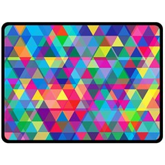 Colorful Abstract Triangle Shapes Background Fleece Blanket (Large)