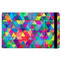 Colorful Abstract Triangle Shapes Background Apple iPad 2 Flip Case