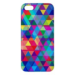 Colorful Abstract Triangle Shapes Background Apple iPhone 5 Premium Hardshell Case