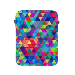 Colorful Abstract Triangle Shapes Background Apple iPad 2/3/4 Protective Soft Cases