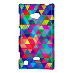 Colorful Abstract Triangle Shapes Background Nokia Lumia 720