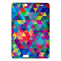 Colorful Abstract Triangle Shapes Background Amazon Kindle Fire HD (2013) Hardshell Case