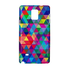 Colorful Abstract Triangle Shapes Background Samsung Galaxy Note 4 Hardshell Case