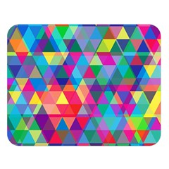 Colorful Abstract Triangle Shapes Background Double Sided Flano Blanket (Large)