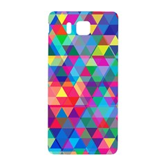 Colorful Abstract Triangle Shapes Background Samsung Galaxy Alpha Hardshell Back Case