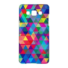 Colorful Abstract Triangle Shapes Background Samsung Galaxy A5 Hardshell Case