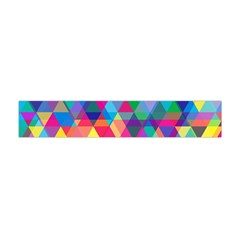 Colorful Abstract Triangle Shapes Background Flano Scarf (Mini)