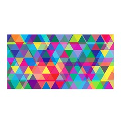 Colorful Abstract Triangle Shapes Background Satin Wrap