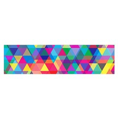Colorful Abstract Triangle Shapes Background Satin Scarf (Oblong)
