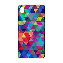 Colorful Abstract Triangle Shapes Background Sony Xperia Z3+