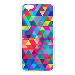 Colorful Abstract Triangle Shapes Background Apple Seamless iPhone 6 Plus/6S Plus Case (Transparent)