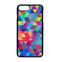 Colorful Abstract Triangle Shapes Background Apple Iphone 7 Plus Seamless Case (black)