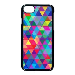 Colorful Abstract Triangle Shapes Background Apple Iphone 7 Seamless Case (black)