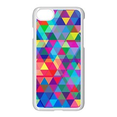 Colorful Abstract Triangle Shapes Background Apple Iphone 7 Seamless Case (white)