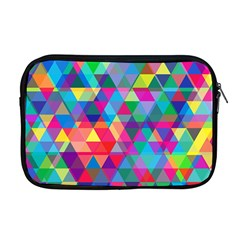 Colorful Abstract Triangle Shapes Background Apple Macbook Pro 17  Zipper Case