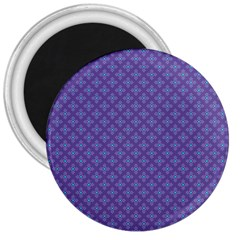 Abstract Purple Pattern Background 3  Magnets