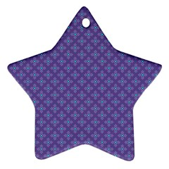 Abstract Purple Pattern Background Ornament (Star)