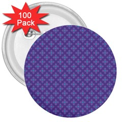 Abstract Purple Pattern Background 3  Buttons (100 pack)