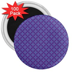Abstract Purple Pattern Background 3  Magnets (100 pack)