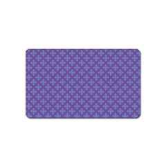 Abstract Purple Pattern Background Magnet (name Card)