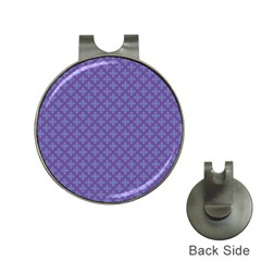 Abstract Purple Pattern Background Hat Clips with Golf Markers