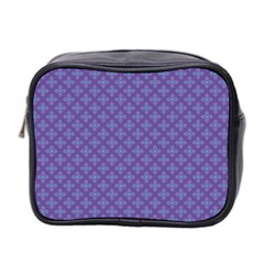 Abstract Purple Pattern Background Mini Toiletries Bag 2-Side