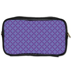 Abstract Purple Pattern Background Toiletries Bags