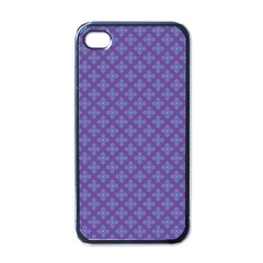 Abstract Purple Pattern Background Apple iPhone 4 Case (Black)