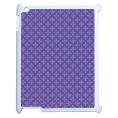 Abstract Purple Pattern Background Apple iPad 2 Case (White)