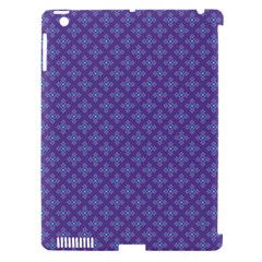 Abstract Purple Pattern Background Apple iPad 3/4 Hardshell Case (Compatible with Smart Cover)