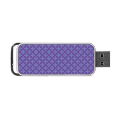 Abstract Purple Pattern Background Portable USB Flash (Two Sides)