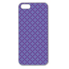 Abstract Purple Pattern Background Apple Seamless iPhone 5 Case (Clear)