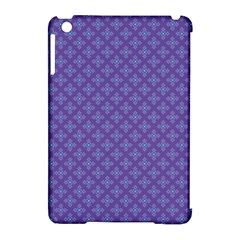 Abstract Purple Pattern Background Apple iPad Mini Hardshell Case (Compatible with Smart Cover)