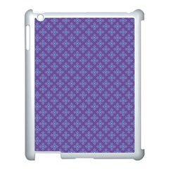 Abstract Purple Pattern Background Apple iPad 3/4 Case (White)