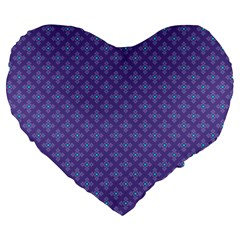Abstract Purple Pattern Background Large 19  Premium Heart Shape Cushions