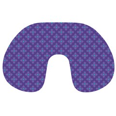 Abstract Purple Pattern Background Travel Neck Pillows