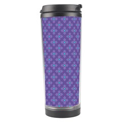 Abstract Purple Pattern Background Travel Tumbler