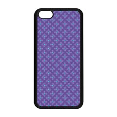 Abstract Purple Pattern Background Apple iPhone 5C Seamless Case (Black)
