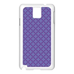 Abstract Purple Pattern Background Samsung Galaxy Note 3 N9005 Case (White)