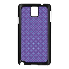 Abstract Purple Pattern Background Samsung Galaxy Note 3 N9005 Case (Black)