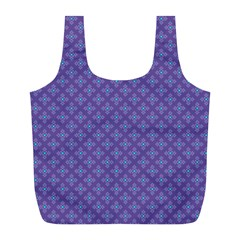 Abstract Purple Pattern Background Full Print Recycle Bags (L)
