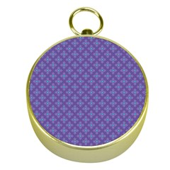 Abstract Purple Pattern Background Gold Compasses