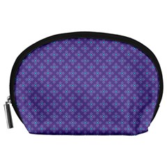Abstract Purple Pattern Background Accessory Pouches (Large)