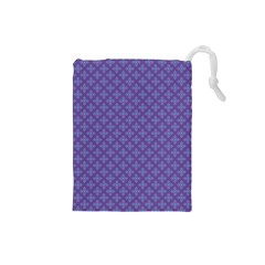 Abstract Purple Pattern Background Drawstring Pouches (Small)