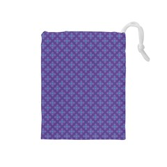 Abstract Purple Pattern Background Drawstring Pouches (Medium)